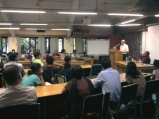 """Prof. Roger Jeffery, University of Edinburgh, at a Public Lecture on """"Indian pharmaceutical Industry"""" at TISS, Mumbai on 29th August 2012."""