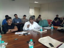 """Prof. A. Ramaiah, Centre for Study of Social Exclusion and inclusive policies, TISS speaking at the roundtable discussion on """"Caste atrocities and missing convictions"""" at TISS, Mumbai on August 28th 2012."""