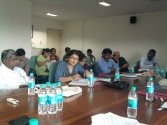"""Shamim Modi, activist and TISS faculty with the Centre for Law, rights and Constitutional governance speaking at the Roundtable discussion on """"Tribal dispossession and inclusion"""" on 29th August 2012."""