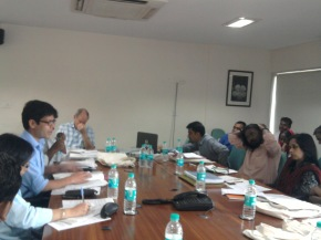 Dr. Jeevan Sharma, University of Edinburgh, speaking at the Ethnography and Social Identities Workshop held at TISS, Mumbai on 30th to 31st August 2012.
