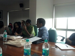A participant of the Ethnography and Social Identities Workshop at TISS, Mumbai presenting a paper on 30th August 2012.